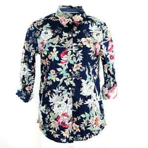 Charter Club Relax Fit Button Up Floral Shirt NWT